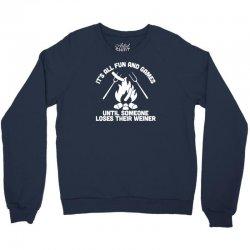 loses a weiner Crewneck Sweatshirt | Artistshot