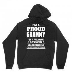 Proud Grammy Of A Freaking Awesome Granddaughter Unisex Hoodie | Artistshot