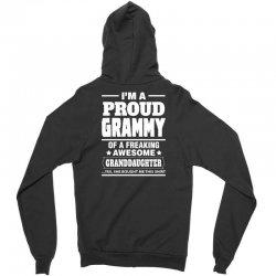 Proud Grammy Of A Freaking Awesome Granddaughter Zipper Hoodie | Artistshot