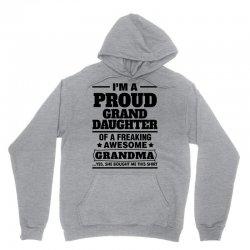 Proud Granddaughter Of A Freaking Awesome Grandma Unisex Hoodie   Artistshot