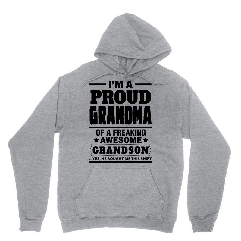 Proud Grandma Of A Freaking Awesome Grandson Unisex Hoodie | Artistshot