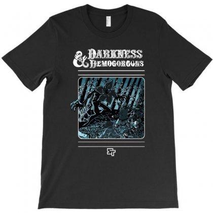 Darkness And Demogorgons T-shirt Designed By Mash Art