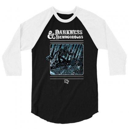 Darkness And Demogorgons 3/4 Sleeve Shirt Designed By Mash Art