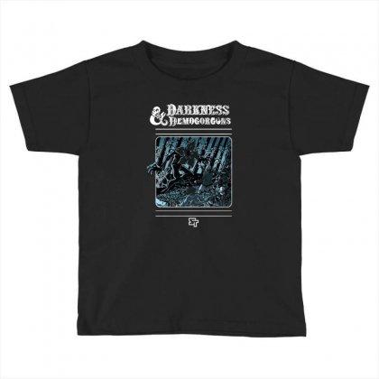 Darkness And Demogorgons Toddler T-shirt Designed By Mash Art