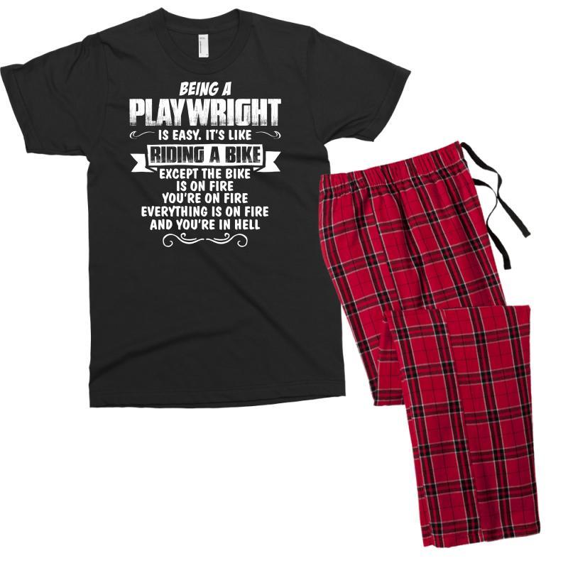 Being A Playwright Men's T-shirt Pajama Set   Artistshot