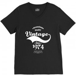 Premium Quality Vintage Since 1974 Limited Edition V-Neck Tee | Artistshot