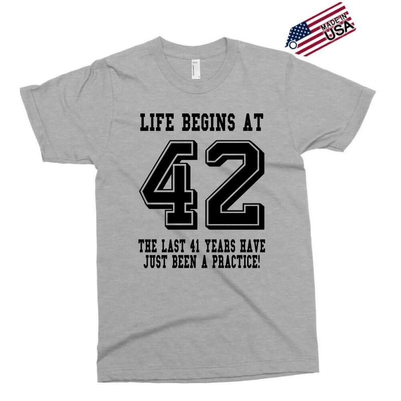 42nd Birthday Life Begins At 42 Exclusive T-shirt | Artistshot