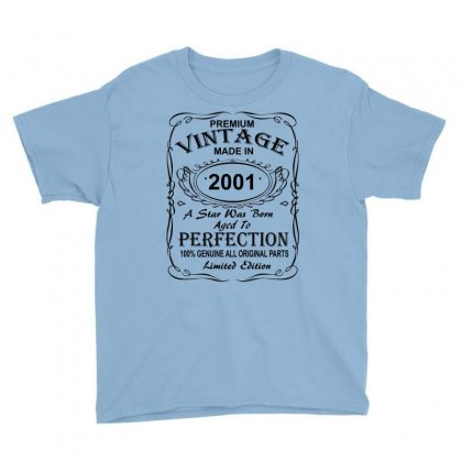 Birthday Gift Ideas For Men And Women Was Born 2001 Youth Tee Designed By Killakam