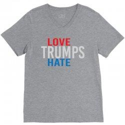 LOVE TRUMPS HATE V-Neck Tee | Artistshot