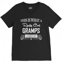 This Is What A Really Cool Gramps Looks Like V-Neck Tee | Artistshot