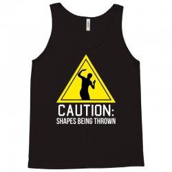 caution shapes being thrown Tank Top   Artistshot