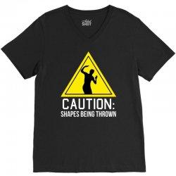 caution shapes being thrown V-Neck Tee   Artistshot