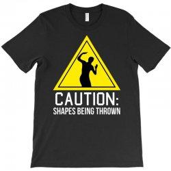 caution shapes being thrown T-Shirt   Artistshot