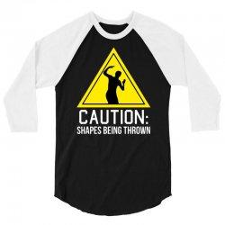 caution shapes being thrown 3/4 Sleeve Shirt   Artistshot