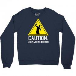 caution shapes being thrown Crewneck Sweatshirt   Artistshot