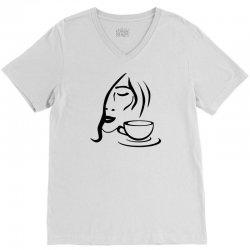 coffe girl V-Neck Tee | Artistshot