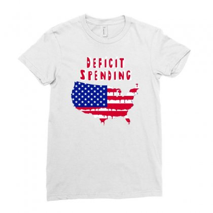 Deficit Spending America Ladies Fitted T-shirt Designed By Marla_arts