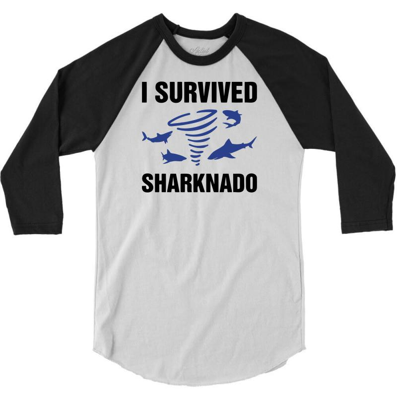 I Survided Sharknado 3/4 Sleeve Shirt | Artistshot