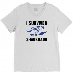 i survided sharknado V-Neck Tee | Artistshot