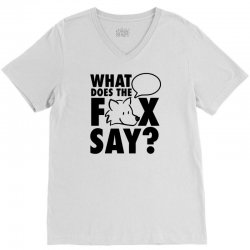 what does the fox say V-Neck Tee | Artistshot
