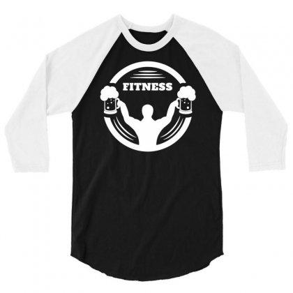 Body Builder Fitness 3/4 Sleeve Shirt Designed By Marla_arts