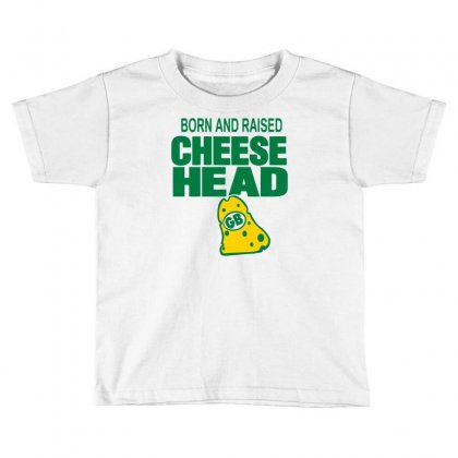 Born And Raised Cheesehead Toddler T-shirt Designed By Marla_arts
