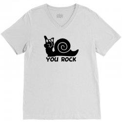 rockin snail V-Neck Tee | Artistshot