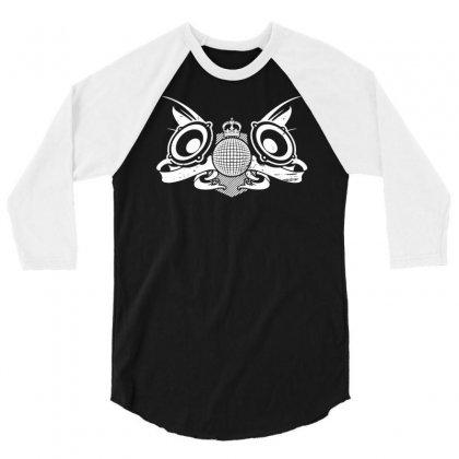 Sound Club Music 3/4 Sleeve Shirt Designed By Marla_arts