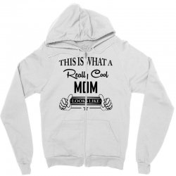 This Is What a Really Cool Mom Looks Like Zipper Hoodie | Artistshot