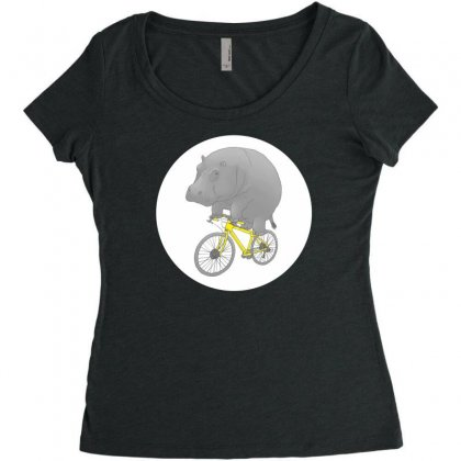 Dont Forget The Helmet Women's Triblend Scoop T-shirt Designed By Specstore