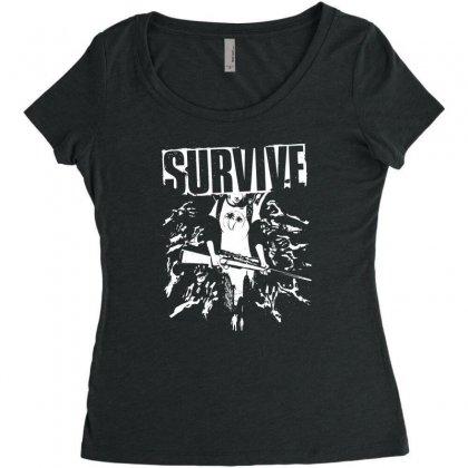 Ellie Women's Triblend Scoop T-shirt Designed By Specstore