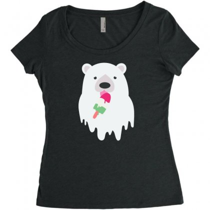 Melted Polar Cream Women's Triblend Scoop T-shirt Designed By Specstore