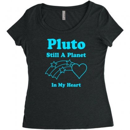 Pluto Still A Planet In My Heart Women's Triblend Scoop T-shirt Designed By Specstore