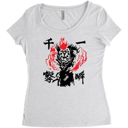 Raging Demon Women's Triblend Scoop T-shirt Designed By Specstore