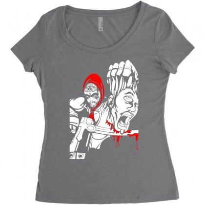 Red Murder Women's Triblend Scoop T-shirt Designed By Specstore