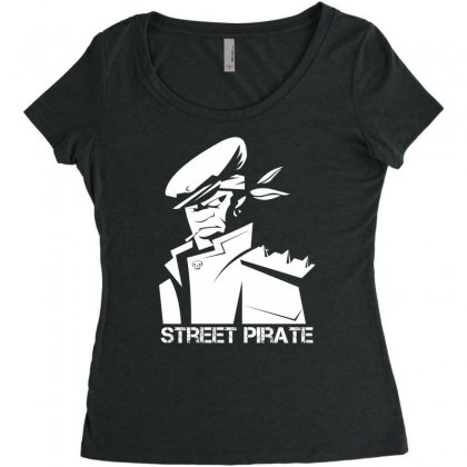 Street Pirate Women's Triblend Scoop T-shirt Designed By Specstore