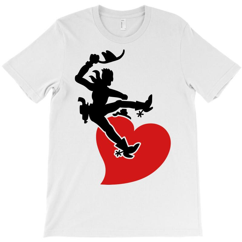 Cowboy Riding A Wild Heart T-shirt   Artistshot