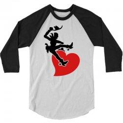 cowboy riding a wild heart 3/4 Sleeve Shirt   Artistshot