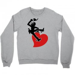 cowboy riding a wild heart Crewneck Sweatshirt   Artistshot