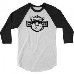 hog wild retro 3/4 Sleeve Shirt   Artistshot