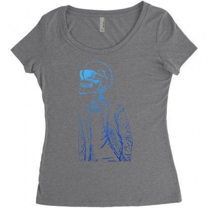 Gentleman Skull Women's Triblend Scoop T-shirt Designed By Specstore