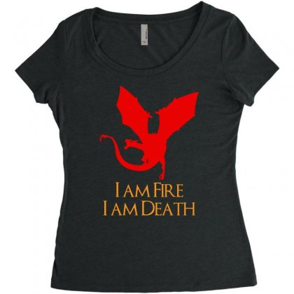 I Am Fire I Am Death Women's Triblend Scoop T-shirt Designed By Specstore