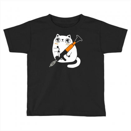 Cuddly Combat Cat Toddler T-shirt Designed By Marla_arts
