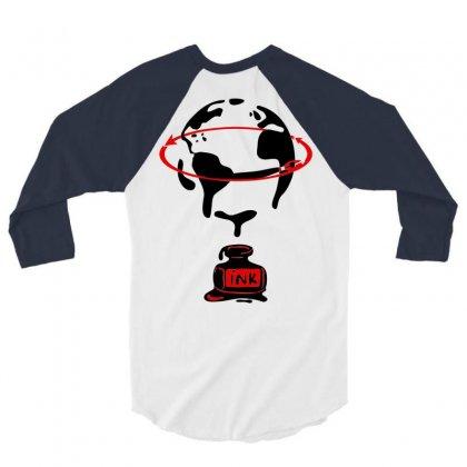 Around The World 3/4 Sleeve Shirt Designed By Marla_arts