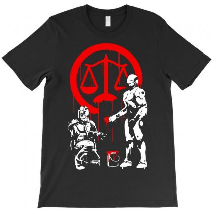 Law Enforcement In Dystopia T-shirt Designed By Marla_arts
