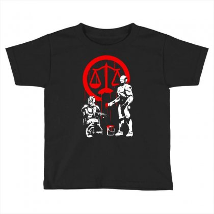 Law Enforcement In Dystopia Toddler T-shirt Designed By Marla_arts