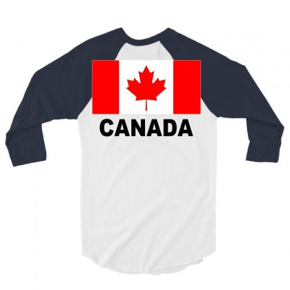 Canada Flag 3/4 Sleeve Shirt Designed By Mdk Art