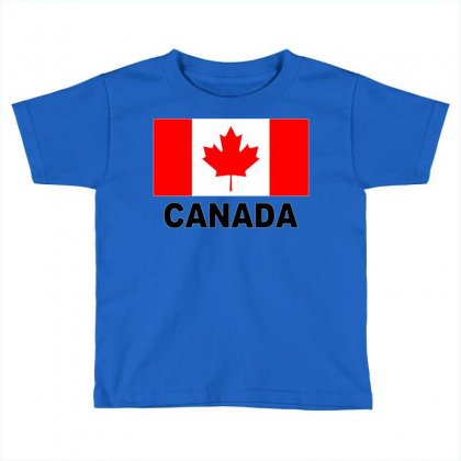 Canada Flag Toddler T-shirt Designed By Mdk Art