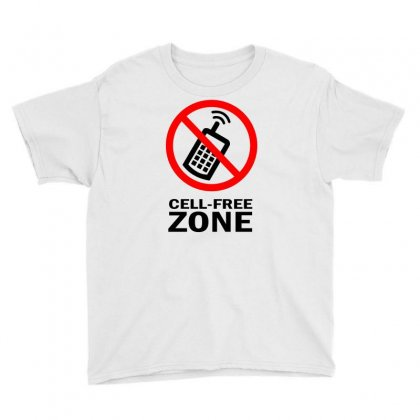 Cell Phone Free Zone Youth Tee Designed By Bapakdanur