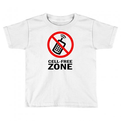 Cell Phone Free Zone Toddler T-shirt Designed By Bapakdanur